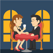 Valentine's day. Vector flat illustration — 图库矢量图片