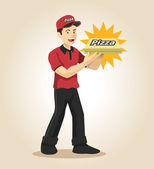Delivery man. Vector flat illustration — Stock Vector