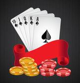 Casino vector illustration — Stock Vector