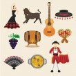 Spain vector flat icon set — Stock Vector #63960139