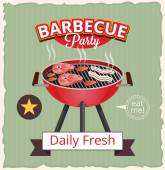 Vector barbecue banner illustration — Stock Vector