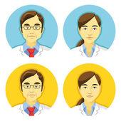 Vector doctors avatars icons set — Stockvector