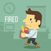 Fired office worker — Stock Vector