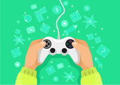 Vector game illustration — Stock Vector