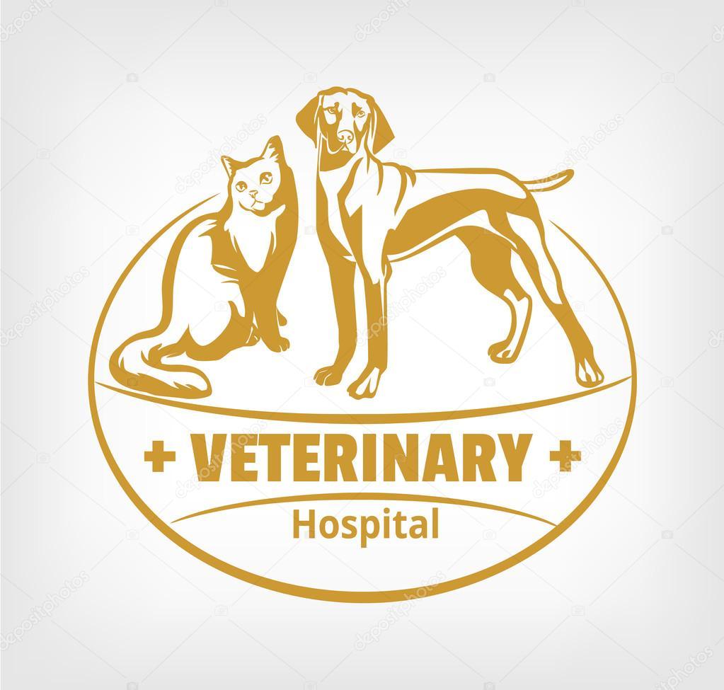 pet clinic logo vector illustration stock vector