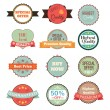 Vector vintage badges, stickers, ribbons, banners and labels. Creative graphic design illustrations. Isolated on white background — Stock Vector #69630231