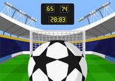 Vector football flat illustration — Stock Vector