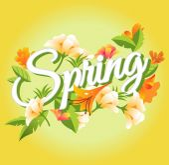 Vector Spring illustration — Stock Vector