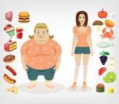 Vector diet flat illustration — 图库矢量图片