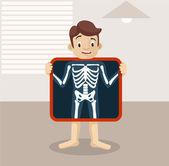 Vector x-ray flat illustration — Stock Vector