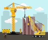 Construction and building vector flat illustration — ストックベクタ