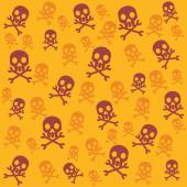 Vector skull background — Stock Vector