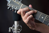 C7 Sustained Chord Fingering On Guitar — Stock Photo