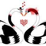 Loving swans — Stock Vector #52283045