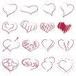 Happy valentines hearts set — Stockvektor  #56880057