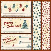クリスマスのポストカード セットします。 — ストックベクタ