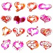 Happy valentines hearts set — Stockvektor  #57976019