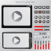 Video player interface — Stock Vector