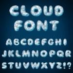 alfabeto de nube para diseño — Vector de stock  #60031243