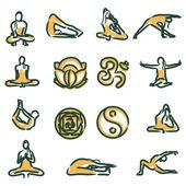 Vector yoga position — Stock Vector