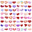 Happy valentines hearts set — Vector de stock  #61357365