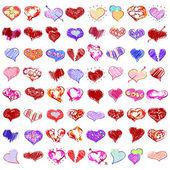 Happy valentines hearts set — Stock Vector