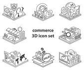 Commerce icon set — Stock Vector