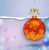 Christmas  balls, isolated on white background vector — Stock Vector