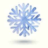 Snowflake watercolor — Stock Vector