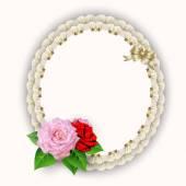Frame napkin with flowers — Stockvektor