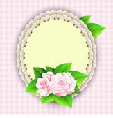 Tarjeta romántica con rosas — Vector de stock