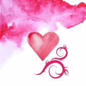Heart watercolor — Stock Vector