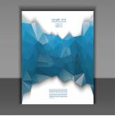 Flyer for design layout with a polygonal pattern — Vector de stock