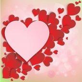 Heart on a beautiful pink background — Stockvektor