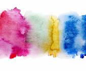 Colorful watercolor stains — Stock Vector