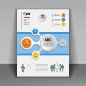 Template booklet with elements of infographics — Stock Vector