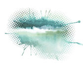 Watercolor splash a nice spot on the wet — Stock Vector
