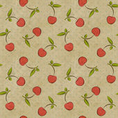 Seamless vintage pattern with cherries — Stock Photo