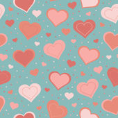 Seamless pattern with hearts — Stockvector