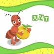 Ant from the collection of alphabet animals — Stock Vector #52373779