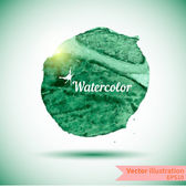 Watercolor design element for the realization — Stock Vector
