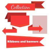 Коллекция ретро баннеров лент — Cтоковый вектор