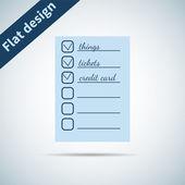 Icon flat  element design — Stock Vector