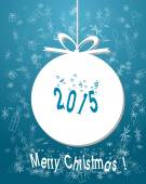 New year greeting background — Vector de stock
