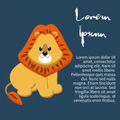 Illustration of an isolated character lion — Stock Vector