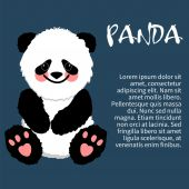 Illustration of an isolated character  panda — Stock Vector