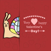 Illustration drawn by animal snail declaration of love — Stock Vector