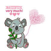 Koala declaration of love — Stock Vector