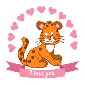 Lion declaration of love — Stock Vector
