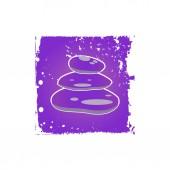Meditation stones Icon — Stock Vector